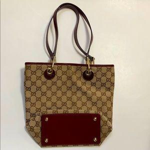 "Gucci vintage mini tote bag size: 10"" x 9.5"""